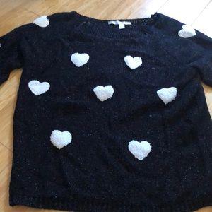 Lauren Conrad heart sweater Large